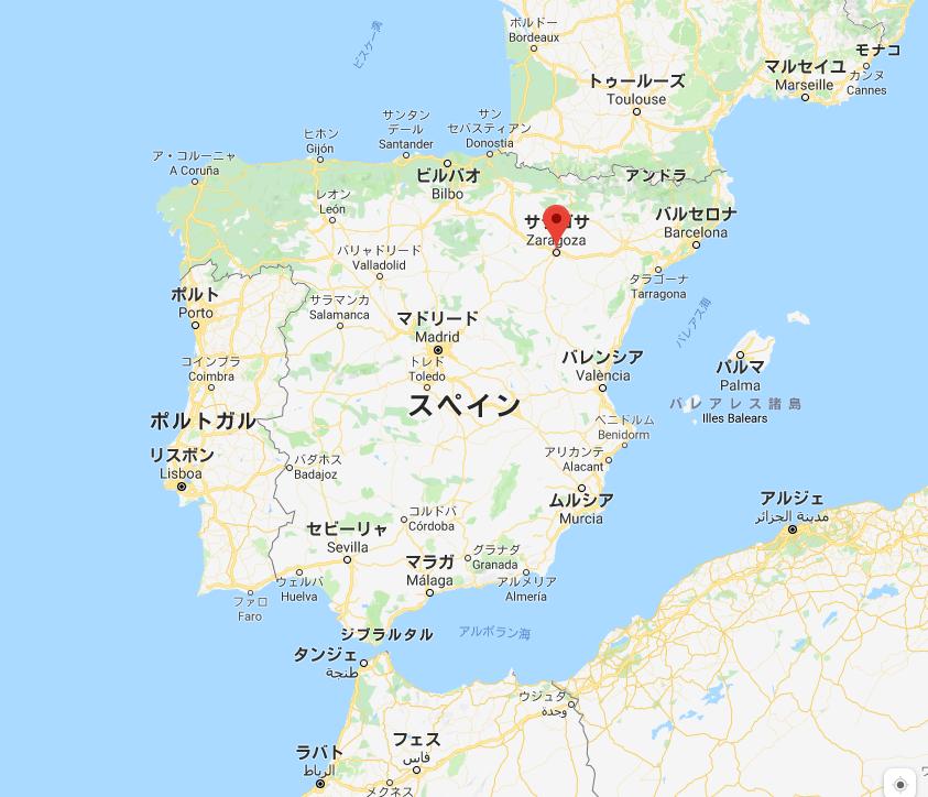 サラゴサの地図